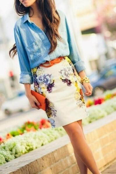 spring-outfits-with-floral-skirts-1