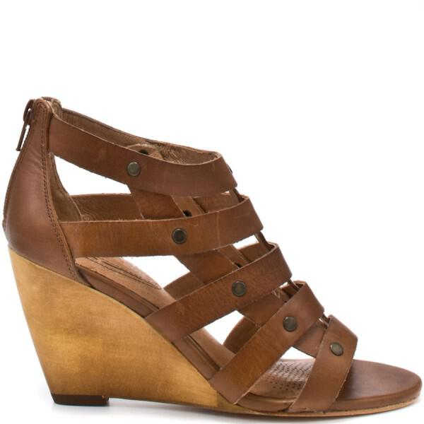 ZCC113 OUT LG - We love : the brown gladiator Leila wedge by Corso Como