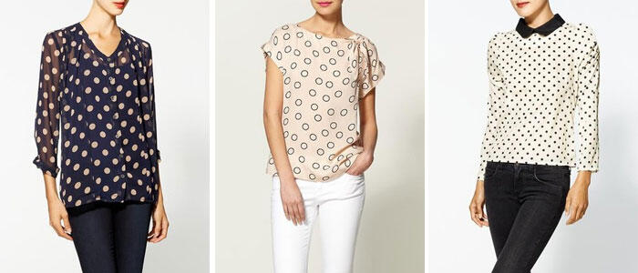 polka dot top 1 - Polka dot blouses we love