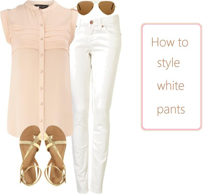 how to style white pants3 - How to style white jeans 25+ outfit ideas