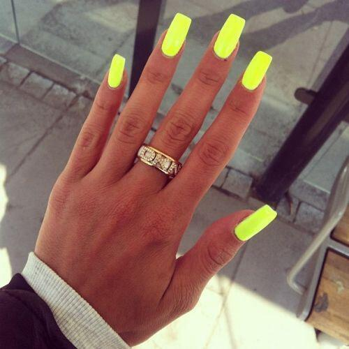 neon nails 1 - 21 beautiful neon nails to try