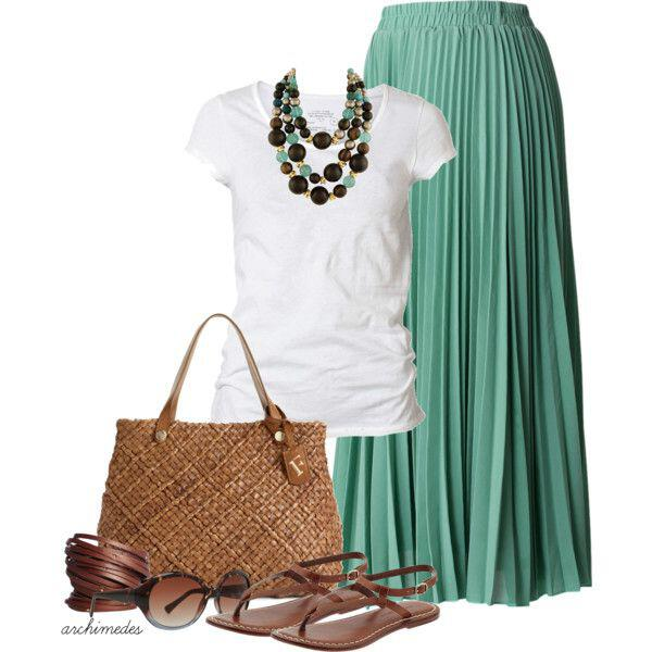 maxi skirt look - Maxi skirt for summer look