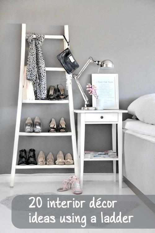 interior decor ideas with l - 20 interior décor ideas using a ladder