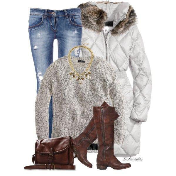 warm winter outfit - 15 warm and cozy winter outfits