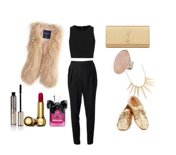 Chic modern and feminine outfit - Chic, modern and feminine outfit for a special night out!