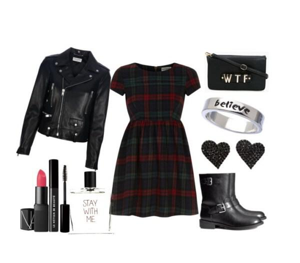 Grunge look with a Dorothy Perkins dress