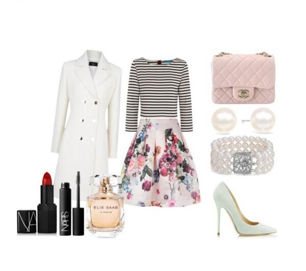 spring chic outfit with Jimmy Choo pumps - Spring chic outfit great choice for an afternoon appearance