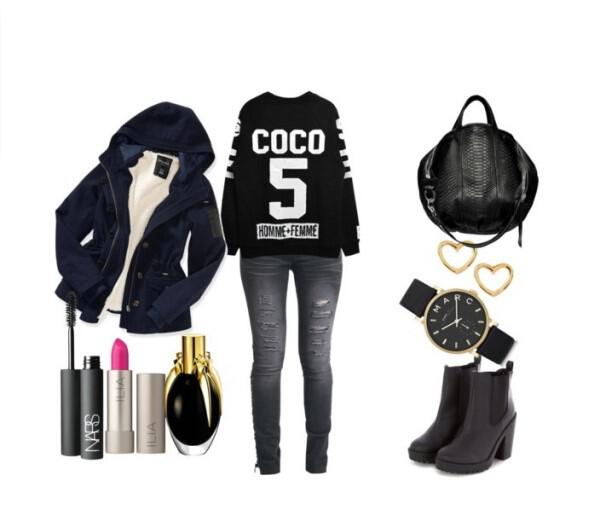Casual and stylish outfit in black color
