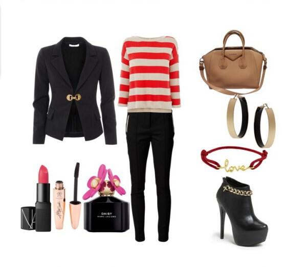 Chic casual look with modern twist - Chic casual look with modern twist