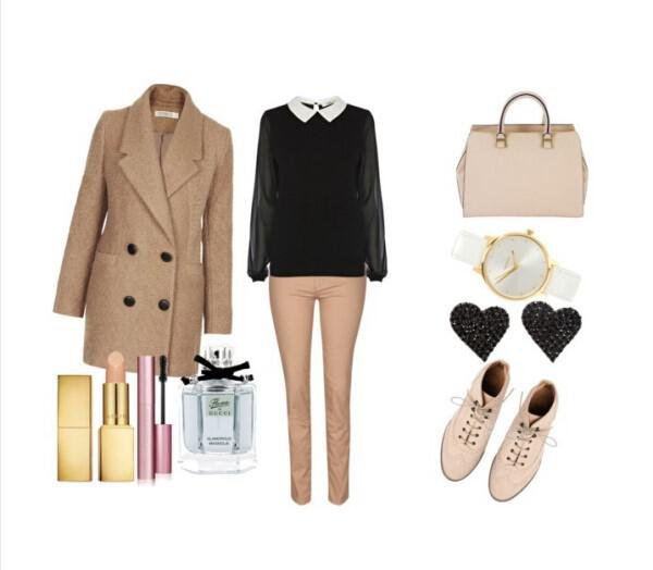 Chic preppy office look - Chic preppy office look
