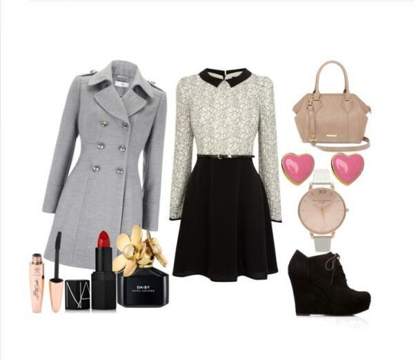 Interesting stylish feminine outfit