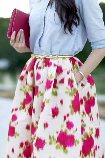 spring outfits with floral skirts 12 - 41 spring outfits with floral skirts