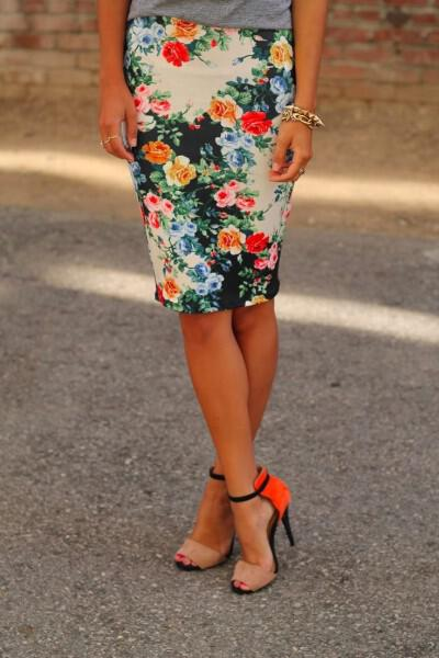 spring outfits with floral skirts 17 - 41 spring outfits with floral skirts
