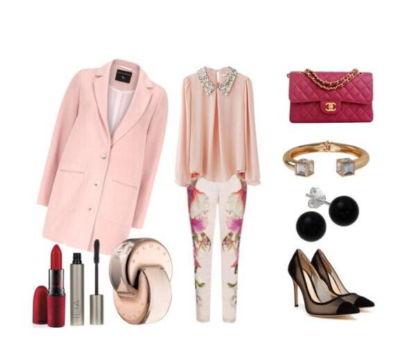 Feminine and colorful spring outfit - Feminine and colorful spring outfit