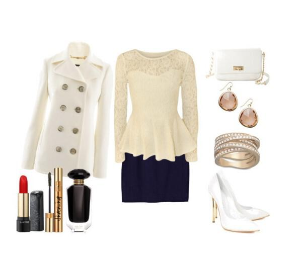 Ultra chic and feminine evening outfit - Ultra chic and feminine evening outfit
