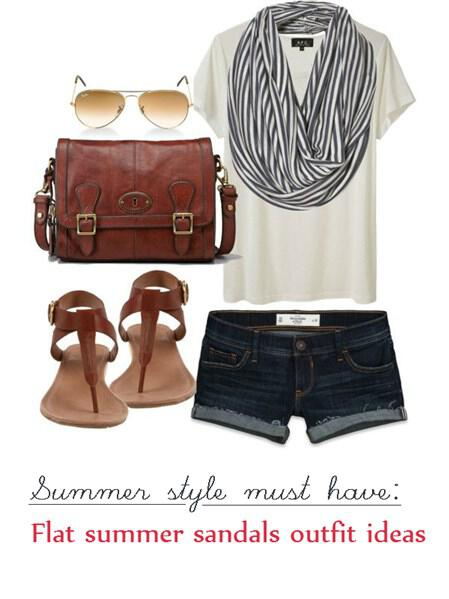 flat sandals outfit ideas 6 - Sandals, the ultimate summer shoes and how to wear them