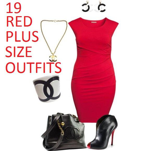 red plus size outfits - 19 hot red plus size casual outfits