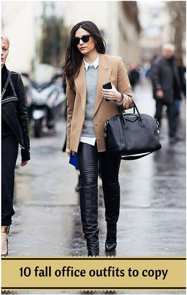 Fall office Outfits ideas1 - 10 perfect street style fall office outfits to copy right now