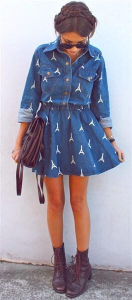 demin dress styling 5 - 7 stylish denim dress outfits to wear everyday