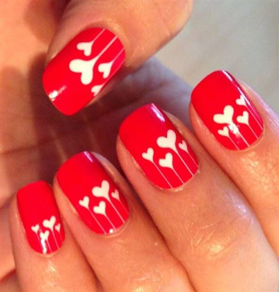 valentines day nails 9 - 9 valentines day nails ideas