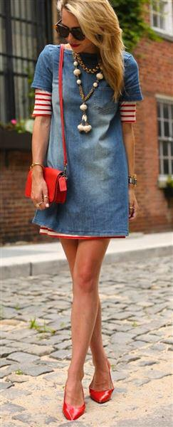 5 cute denim dress outfits for spring (1)