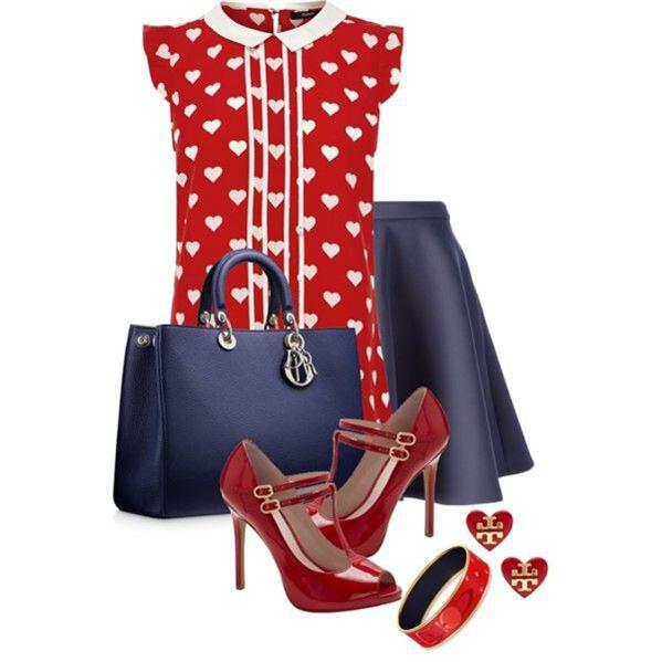 6 Valentine's day outfits - 1 top many looks