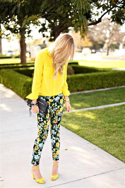 5 floral pants outfits 4 3 - 5 floral pants outfits for spring