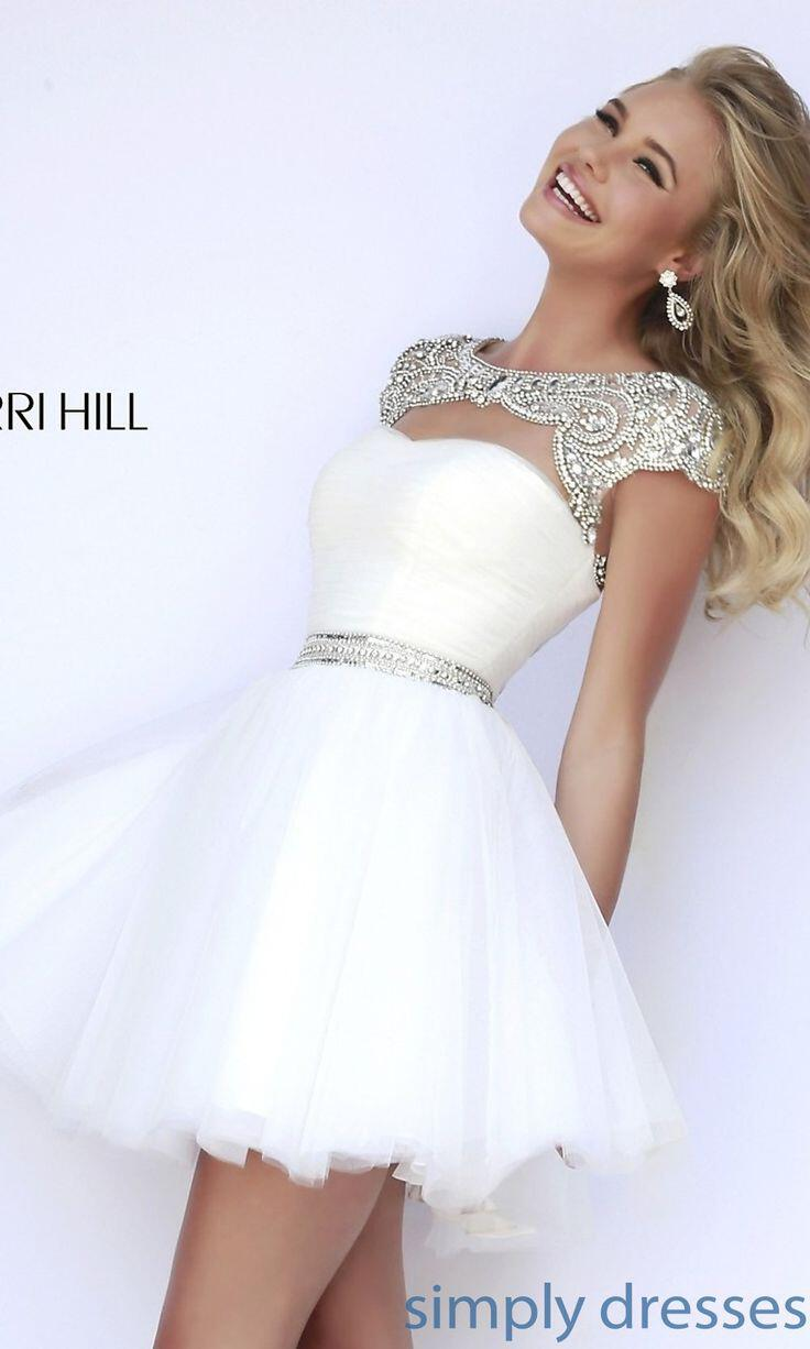 12 Awesome Formal Traditional: 7 Amazing Short White Prom Dresses