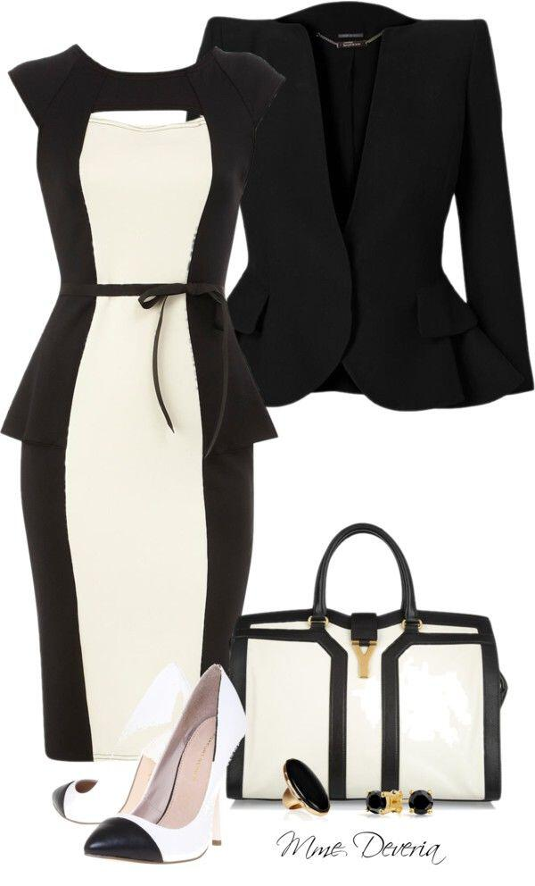7 chic office outfits dress1 - 7 chic office outfits with a dress