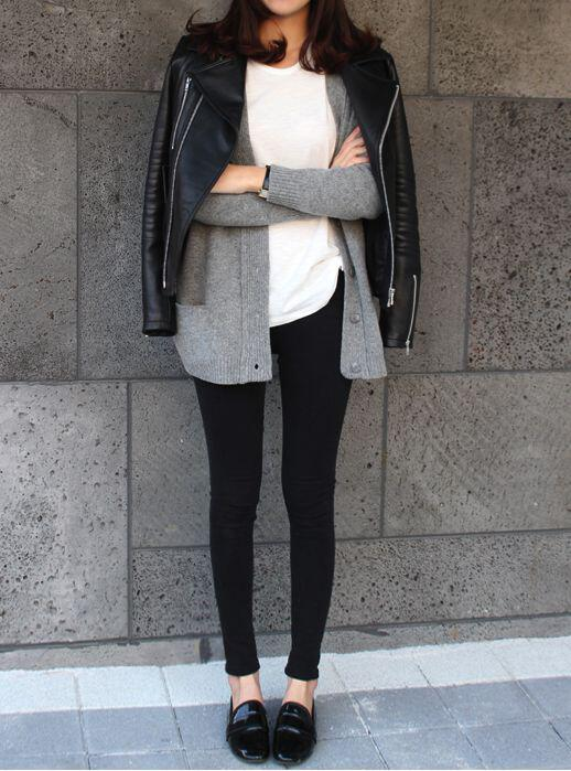 5 ways wear leather jacket street style icon3 - 5 ways to wear a leather jacket like a street style icon