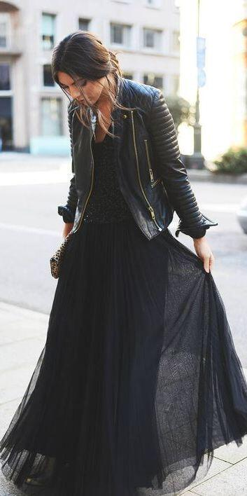 6-stylish-ways-wear-maxi-black-skirt