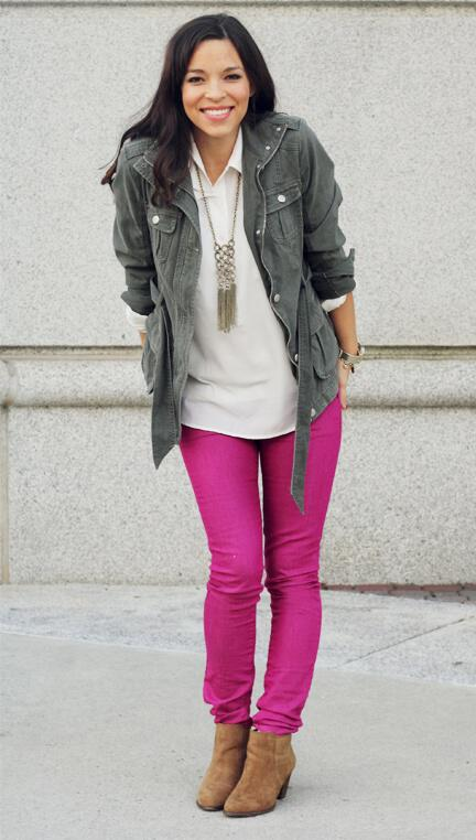 How To Style Hot Pink Pants During Winter
