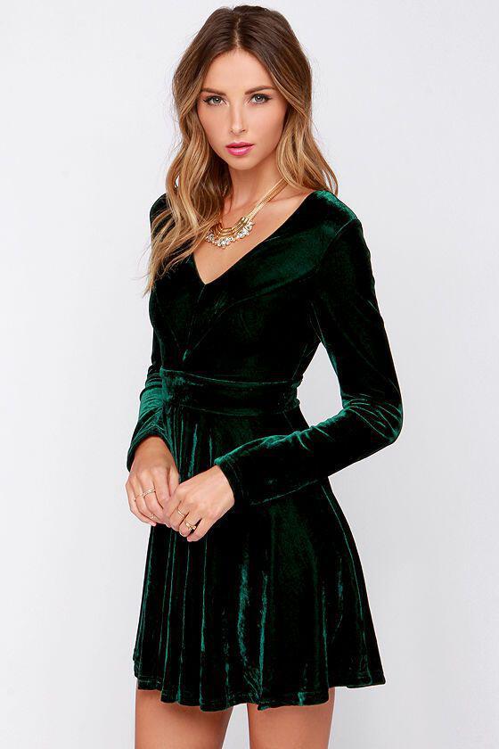 6 fabulous choices dark green christmas dresses 1 - 6 fabulous choices for dark green Christmas dresses