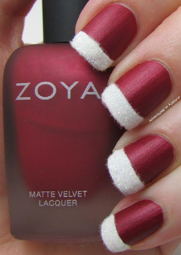 6 glamorous christmas manicures red nail polish2 - 6 glamorous Christmas manicures with red nail polish