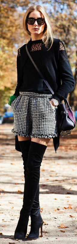 6 stylish ways wear tweed shorts years eve - 6 stylish ways to wear tweed shorts at New Year's Eve