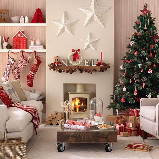 Pinterest Home Decor 2014: Beautiful Christmas Decorations For Your Living Room