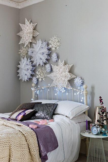 magical christmas decoration ideas bedroom - Magical Christmas decoration ideas for your bedroom