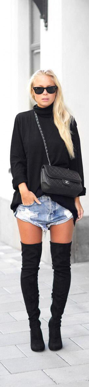 super-stylish-outfits-denim-shorts-love-3