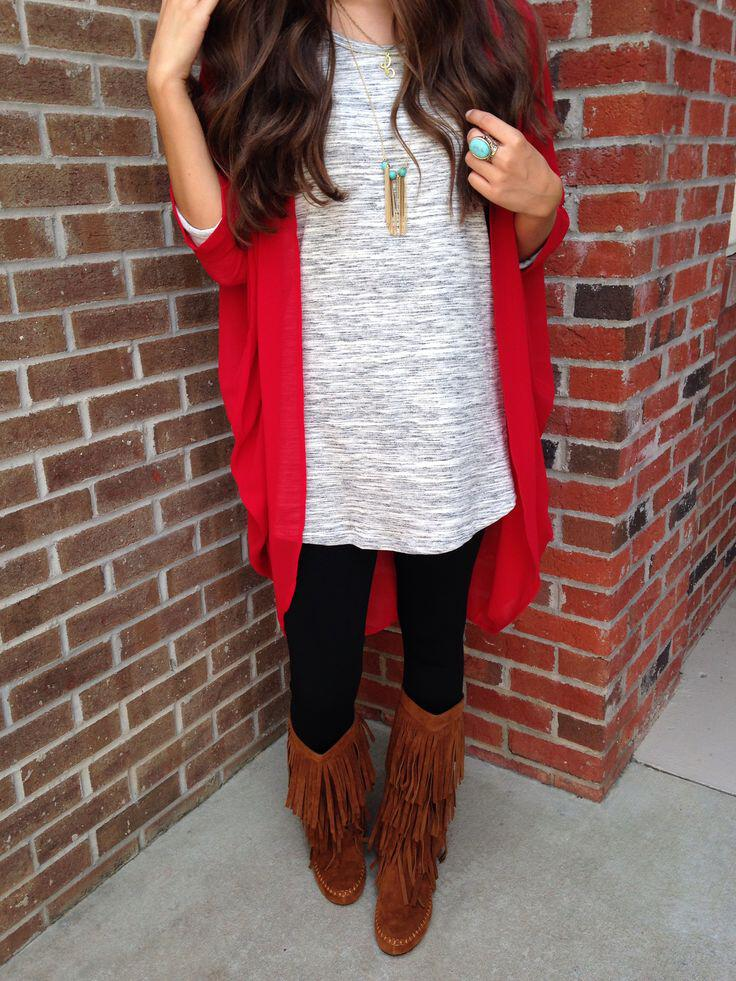 5 Casual Outfits With Fringed Boots To Try Now Page 4 Of