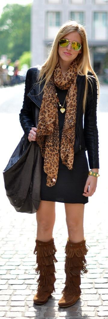 5 casual outfits fringed boots try now 3 - 5 casual outfits with fringed boots to try now