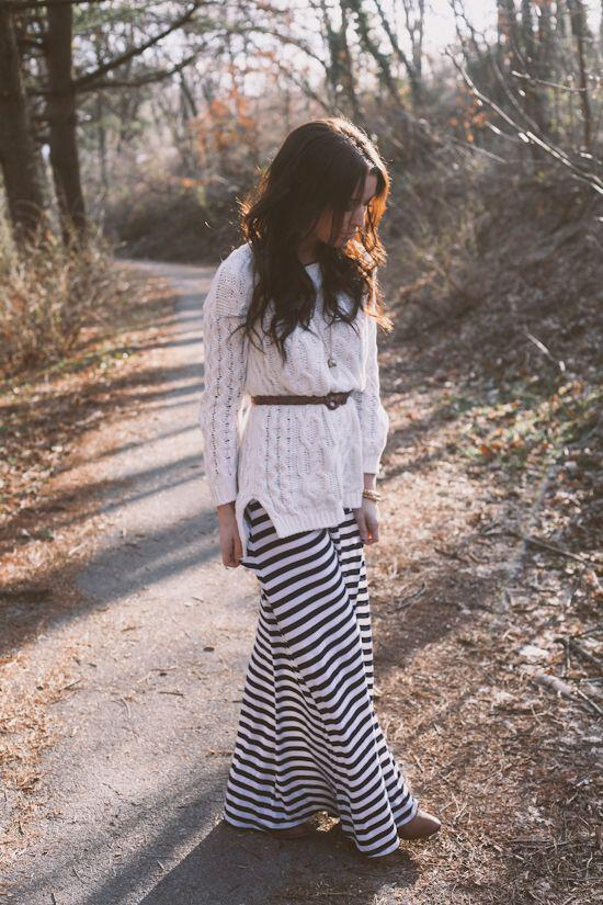 5 ways wear striped maxi dresses winter 3 - 5 ways to wear a striped maxi dresses during winter