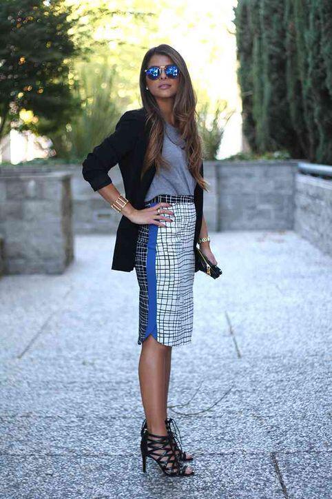 6 stylish pencil skirts day outfits 2 - 6 stylish pencil skirts for all day outfits