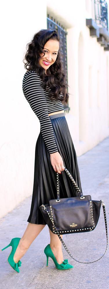 6 ways wear leather pleated skirt winter 4 - 6 ways to wear leather pleated skirt during winter