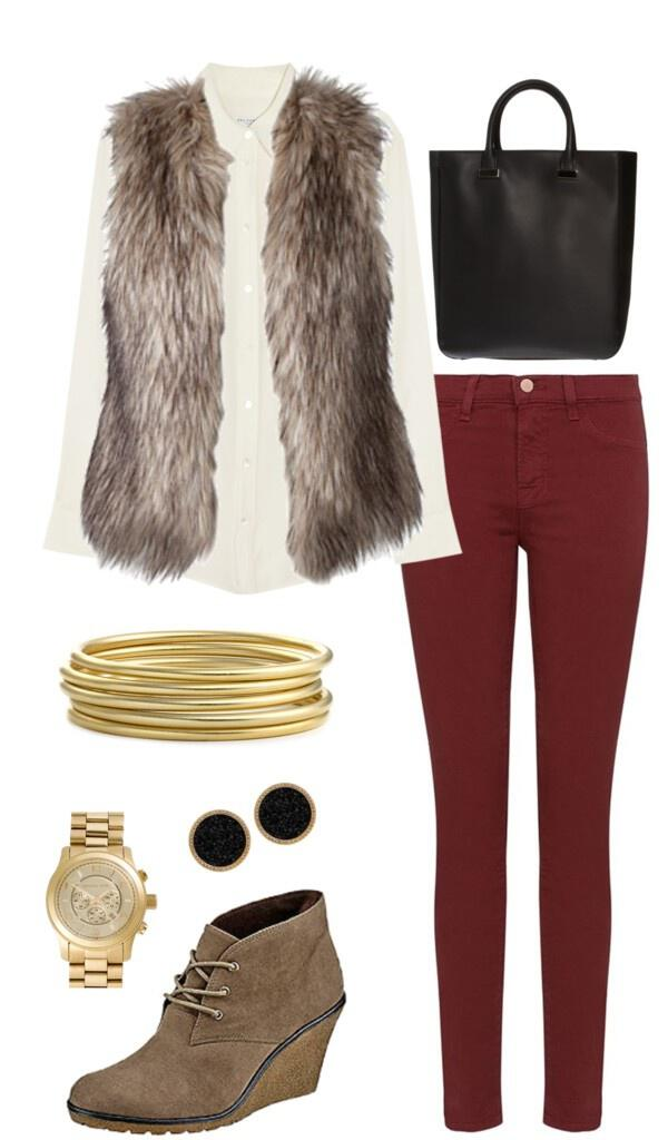 7 Ideas To Update Your Outfits With A Faux Fur Vest - Stylishwomenoutfits.com
