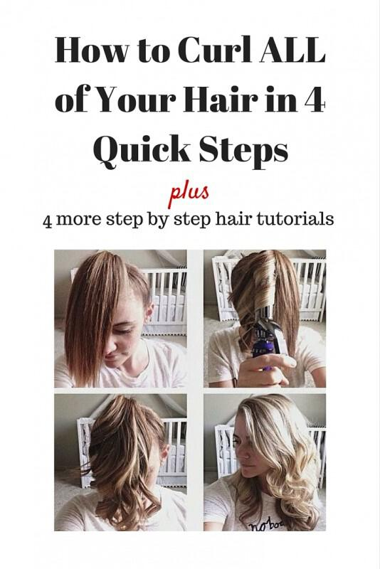 How to Curl ALL of Your Hair in 4 Quick Steps - 5 step by step romantic hairstyles tutorials for Valentine's day