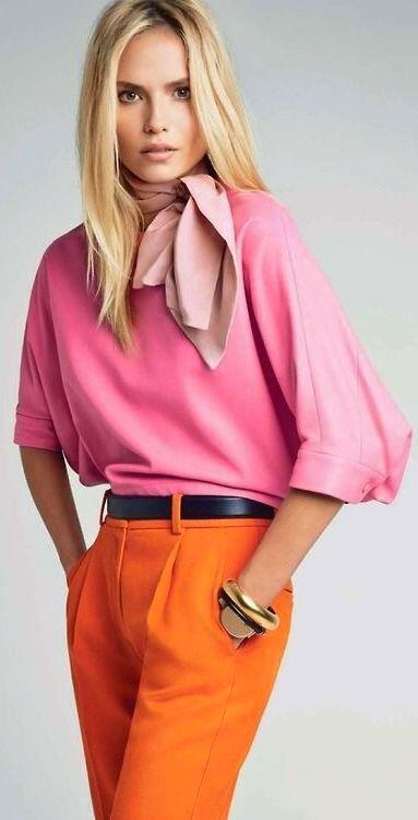 chic aspect color block outfits 2 - The chic aspect of the color block outfits