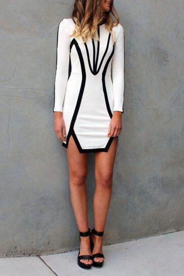 chic dresses black white 4 - The most chic dresses in black and white