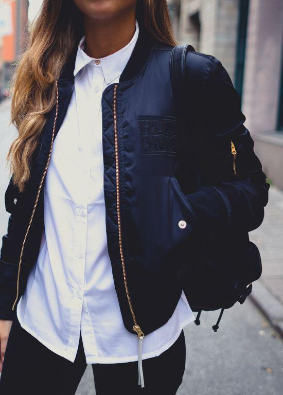 street style outfits bomber jacket 3 - Street style outfits with a bomber jacket