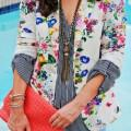 style outfits floral blazer 7 120x120 - Style your outfits up with a floral blazer