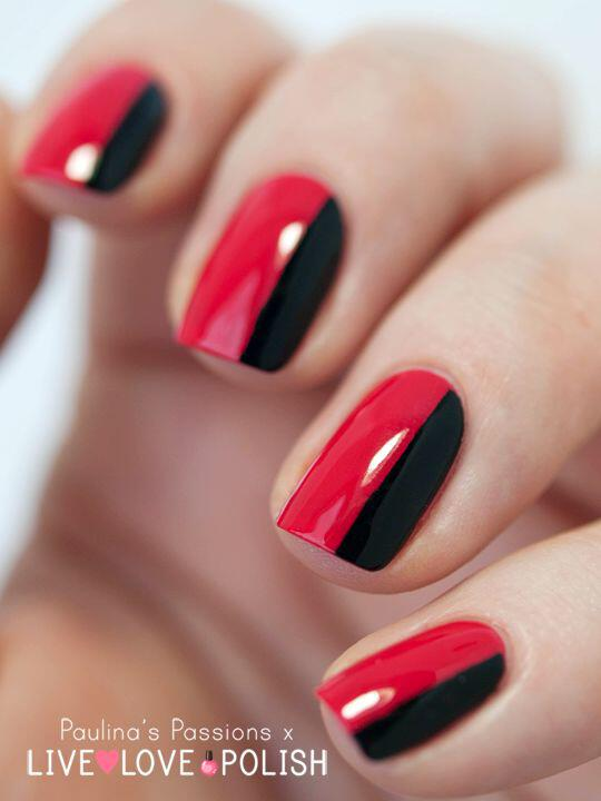 51 ideas black red nails 3 - 5+1 ideas for black and red nails